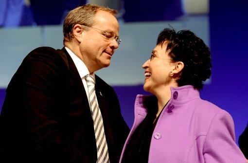 Dirk Niebel und Birgit Homburger Foto: dpa