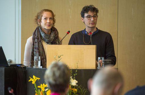 Fridays-for-Future-Vertreter sprechen im Rathaus