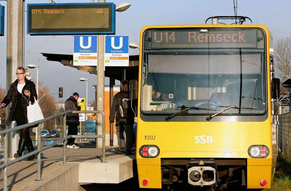 Seit 1999 fährt die Stadtbahn nach Remseck, das im Landkreis Ludwigsburg liegt. Foto: Lichtgut/Achim Zweygarth