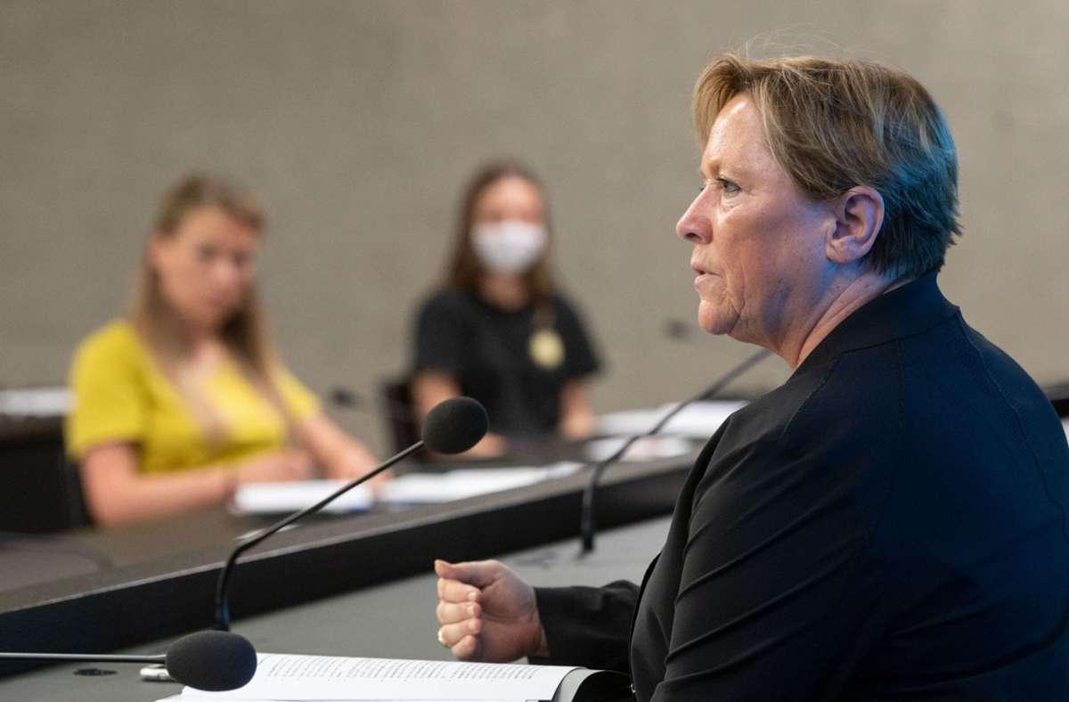 Die CDU-Spitzenkandidatin für die baden-württembergische Landtagswahl, Susanne Eisenmann. Foto: dpa/Marijan Murat