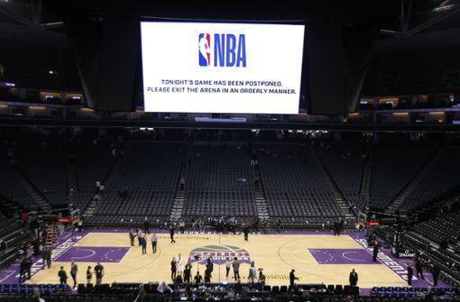 NBA unterbricht ihre Saison