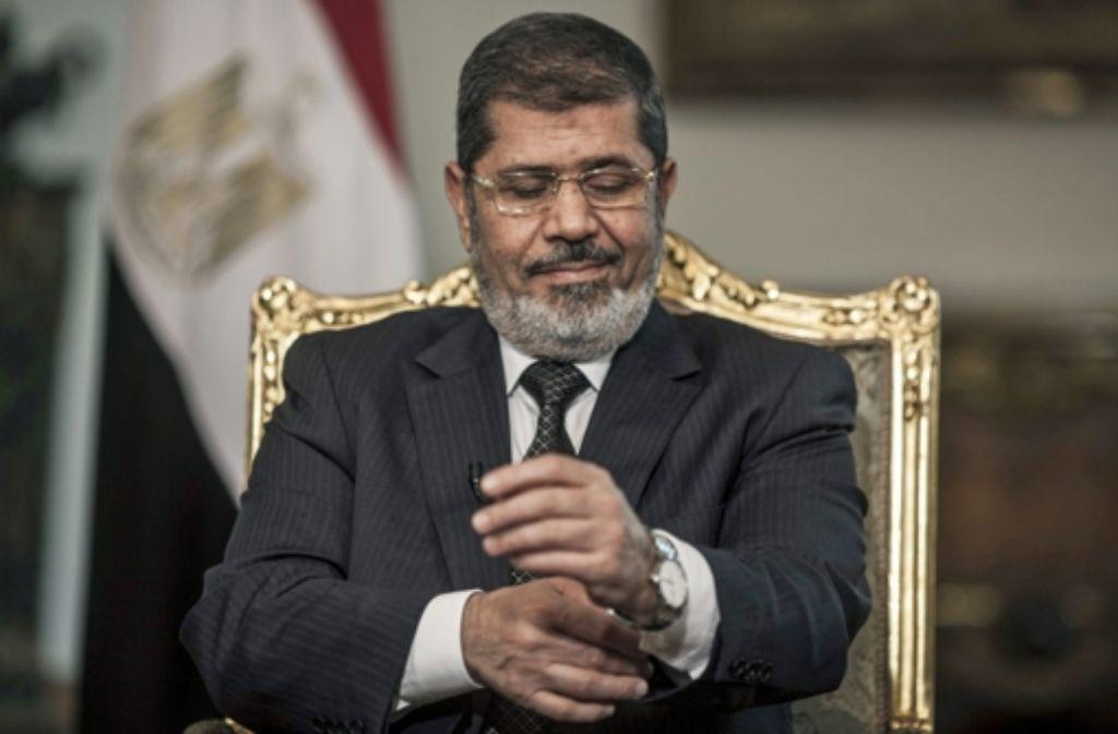 Ex-Präsident Mursi will nicht von der Macht lassen. Foto: dpa