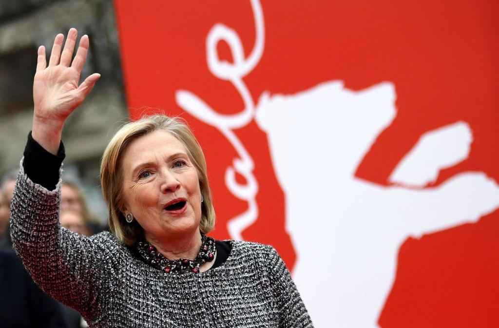 US-Politikerin Hillary Clinton hat am Montag die Berlinale besucht. Foto: dpa/Britta Pedersen