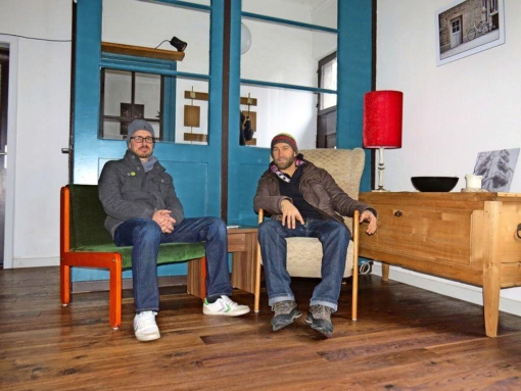 Der Nachhaltigkeitsgedanke ist Felix Hebeler (links) und Tobias Koßbiel bei ihrem Repair-Café wichtig. Am Samstag feiern sie Premiere. Foto: Kathrin Thimme