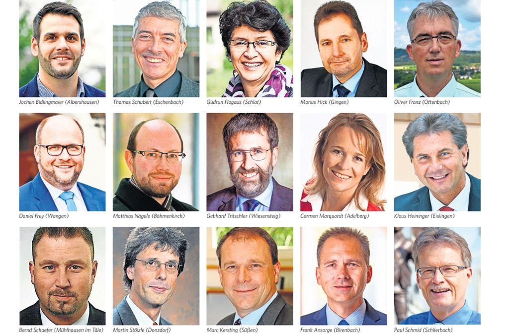 Nur Paul Schmid (unten rechts) strebt in Schlierbach keine weitere Amtszeit an. Foto: StZ