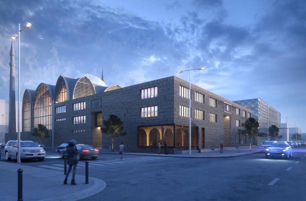 Die Visualisierung zeigt die geplante Moschee. Foto: SL Rasch