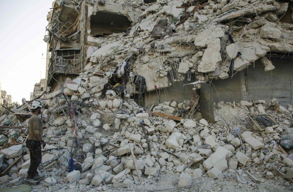 Syrien liegt in Schutt und Asche – und der Krieg tobt weiter. Foto: AFP