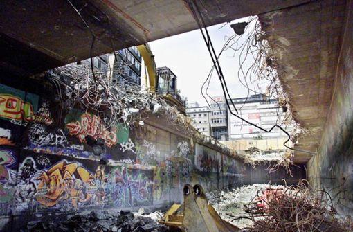"""Normale Bürger verirrten sich selten in den Graffiti-Tunnel"""