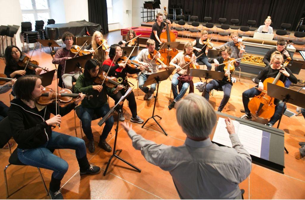 Proben zu den Johannes-Passionen von Bach und Telemann Foto: Bulgrin