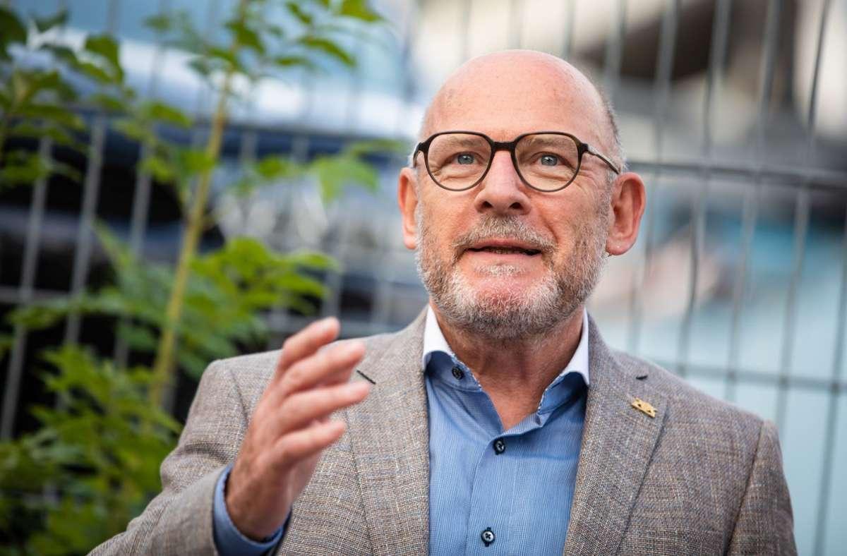 Baden-Württembergs grüner Verkehrsminister Winfried Hermann Foto: Lichtgut/Christoph Schmidt
