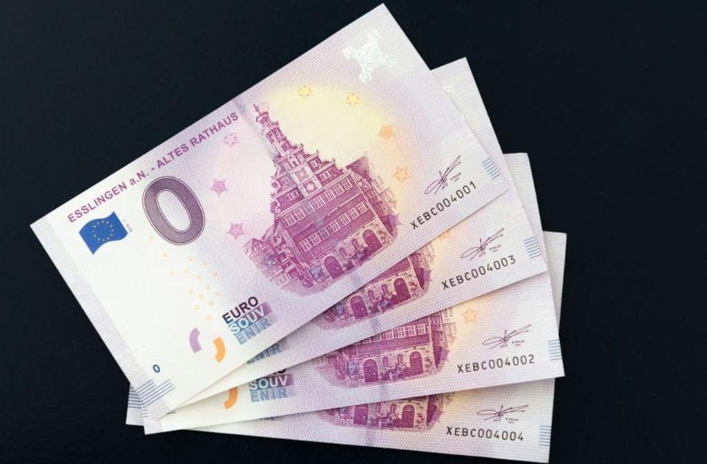 Zahlen kann man mit dem Schein nicht – für Sammler hat das bedruckte Papier allerdings seinen Wert. Foto: Esslinger Stadtmarketing & Tourismus GmbH