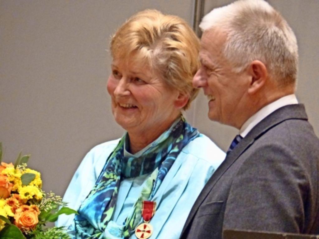Brigitte Hahn hat die Verdienstmedaille der Bundesrepublik erhalten. Foto: