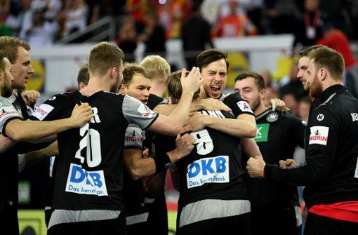 Deutsche Handballer retten in letzter Sekunde Remis