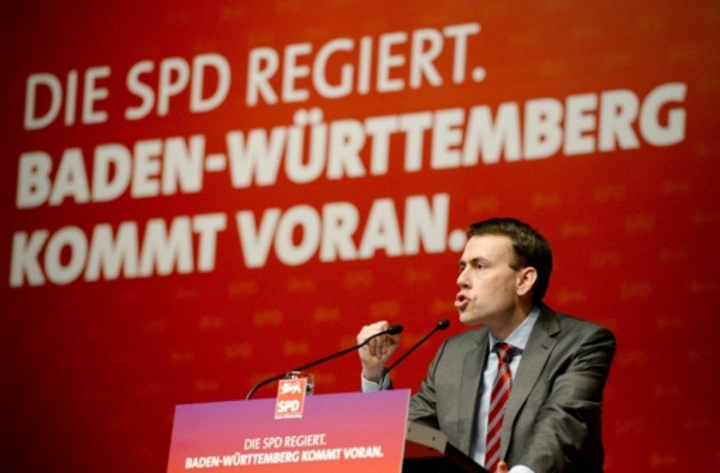 Parteichef Nils Schmid führt die SPD in den Landtagswahlkampf 2016. Foto: dpa