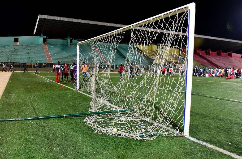 Im Senegal ist es zu Randalen bei einem Fußballspiel gekommen. Dabei wurden acht Menschen getötet. Foto: AFP