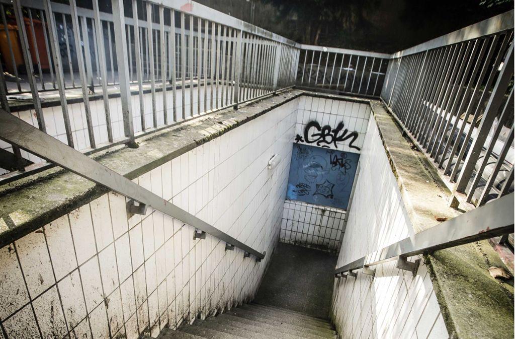 Wenig einladend sieht die Toilette im Schatten der Paulinenbrücke aus. Foto: Leif Piechowski