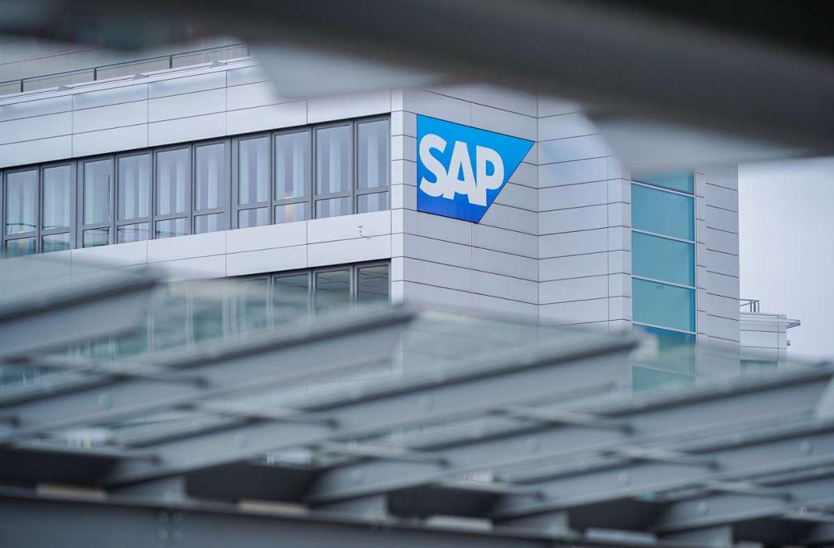 Konzernzentrale des Softwarekonzerns SAP in Walldorf. (Archivbild) Foto: dpa/Uwe Anspach