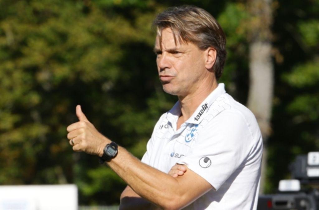 Die 1:5-Niederlage im Stadtderby gegen den VfB II wertet Kickers-Trainer Horst Steffen als Ausrutscher. Foto: Pressefoto Baumann