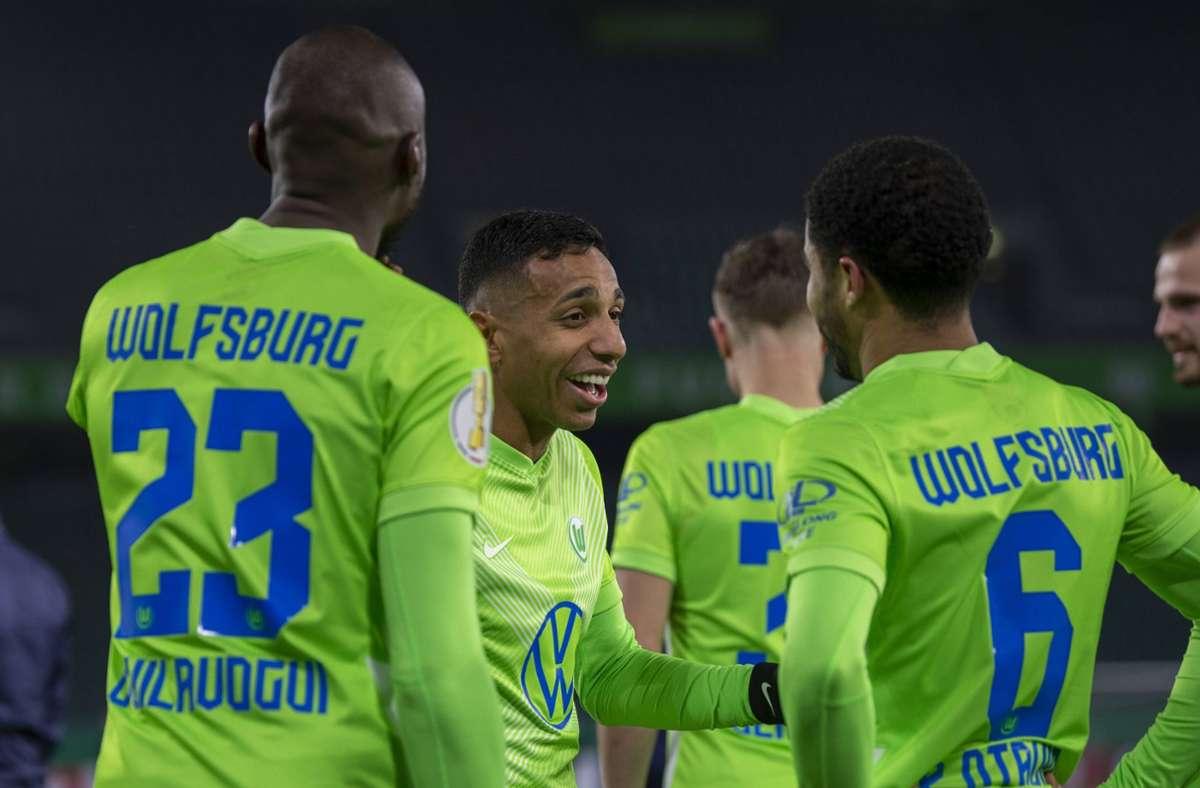 Auch der VfL Wolfsburg ist ins Achtelfinale des DFB-Pokals eingezogen. Foto: imago images/Eibner Pressefoto / Benjamin SOELZER