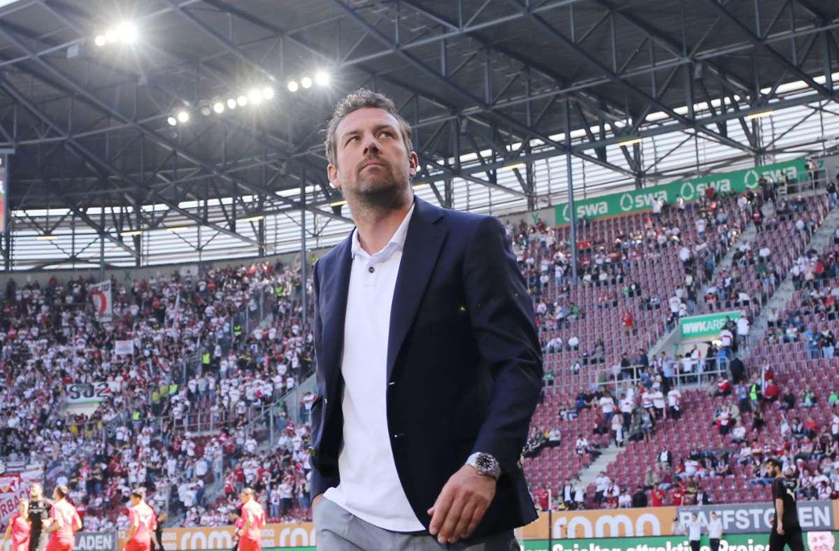Im April 2019 wurde der VfB Stuttgart unter Markus Weinzierl vom FC Augsburg gedemütigt. Foto: Pressefoto Baumann/Hansjürgen Britsch