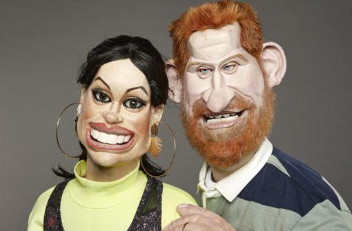 Puppensatire mit  Harry und Meghan