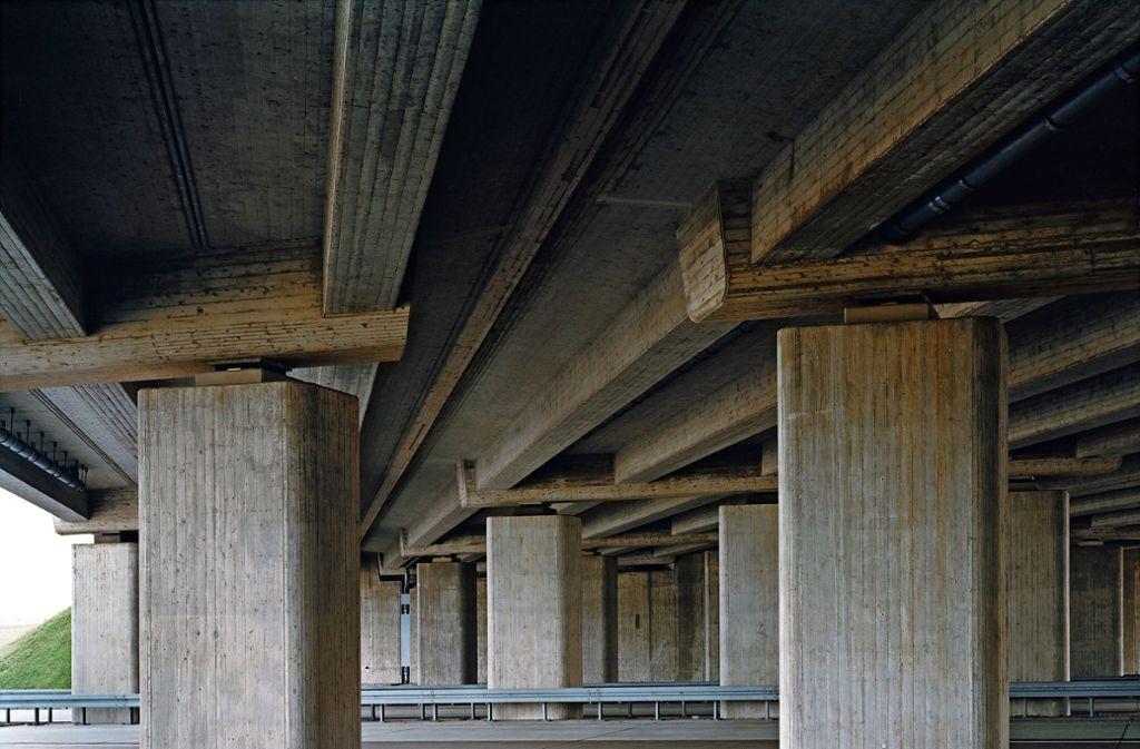 """Betonmonster: Hans Christian Schinks """"A9/A38 –  Autobahnkreuz Rippachtal"""" Foto: Schink"""