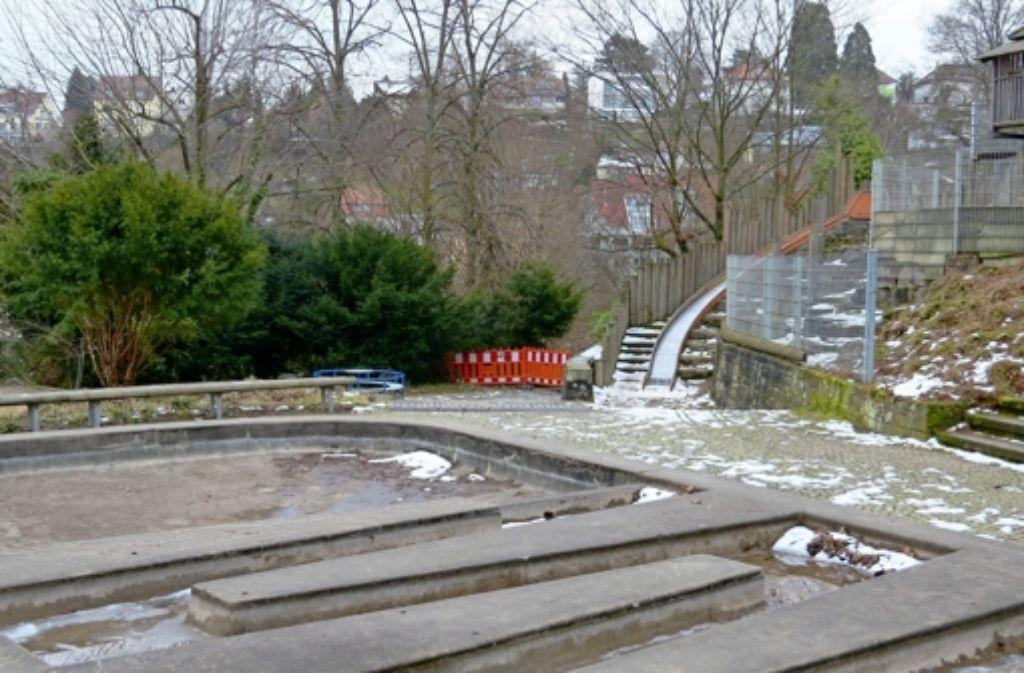 Einige Treppen im Weißenburgpark sind seit längerem gesperrt. Foto: Sebastian Ostendorf