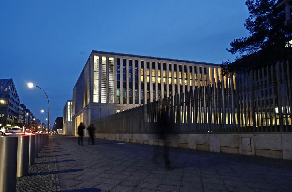 Der neue Gebäudekomplex des Bundesnachrichtendienstes in Berlin-Mitte Foto: Getty
