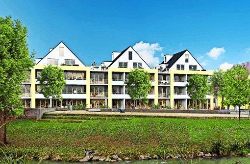 ebersbach wohnen am fluss ebersbach entdeckt sein city ufer landkreis g ppingen. Black Bedroom Furniture Sets. Home Design Ideas