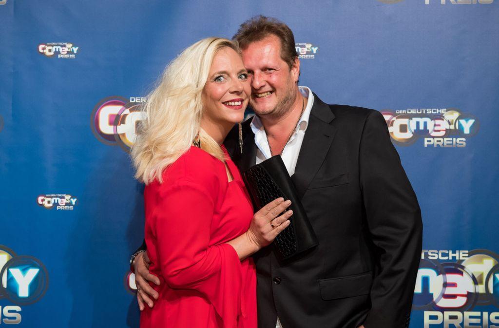 Jens Büchner mit seiner Ehefrau Daniela. Die beiden haben zwei gemeinsame Kinder (Archivfoto). Foto: dpa