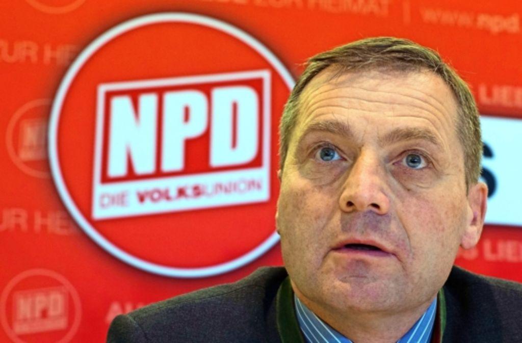 Udo Pastörs führt nun kommissarisch die NPD. Foto: dpa-Zentralbild