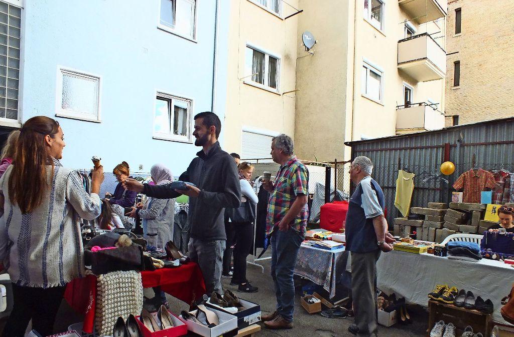 Beim Hofflohmarkt im Stuttgarter Westen gab es genügend Foto: Saskia Dreßler