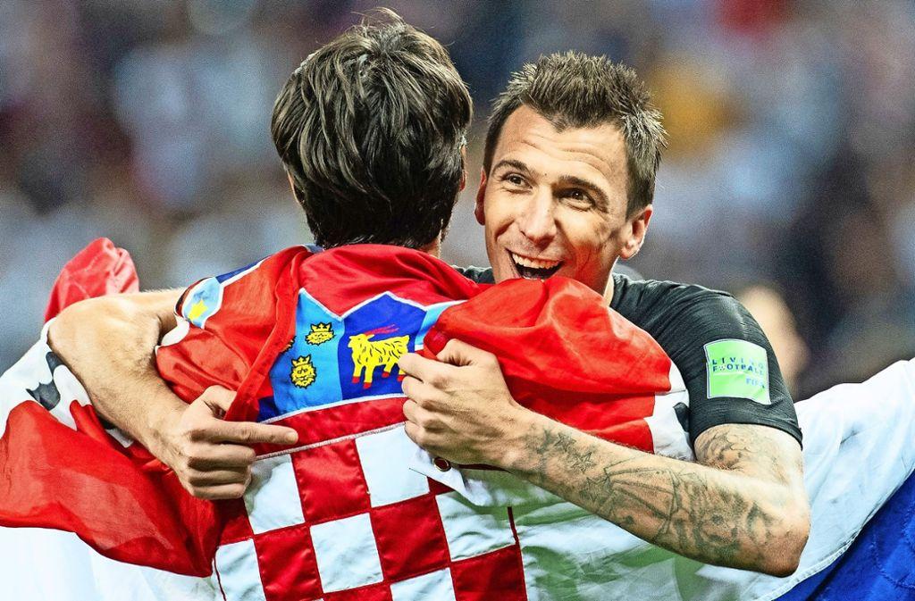 Hat von 1992 bis 1996   als  Kriegsflüchtling      in  Ditzingen gelebt:  Mario Mandzukic hat          das Fußballspielen     bei den TSF  gelernt.   Jetzt steht er mit Kroatien      im WM-Finale Foto: dpa