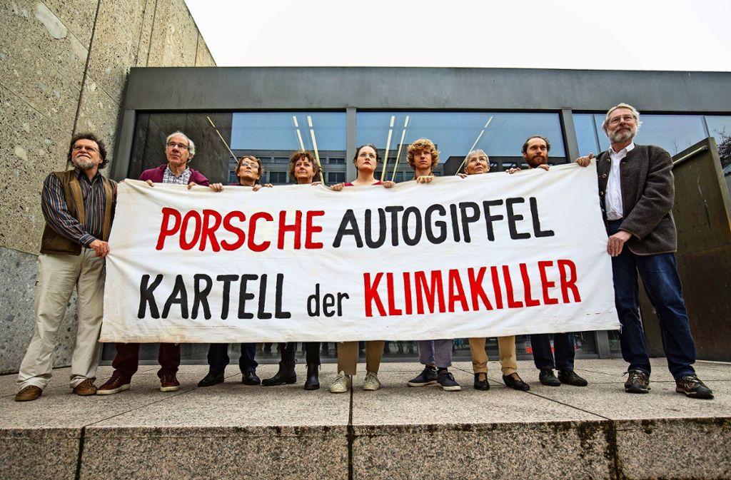 Vertreter des Bündnisses, das für eine Verkehrswende eintritt Foto: Lichtgut/Leif Piechowski