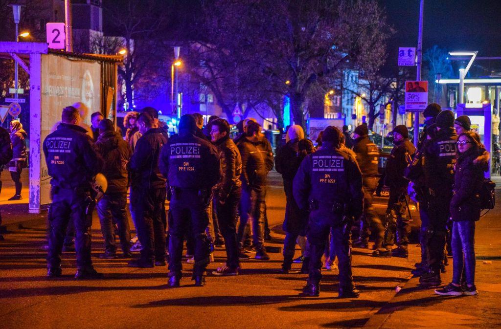 Am Montag hatte es nach der Abschlusskundgebung in Bruchsal eine Auseinandersetzung gegeben. Foto: 7aktuell.de/Fabian Geier