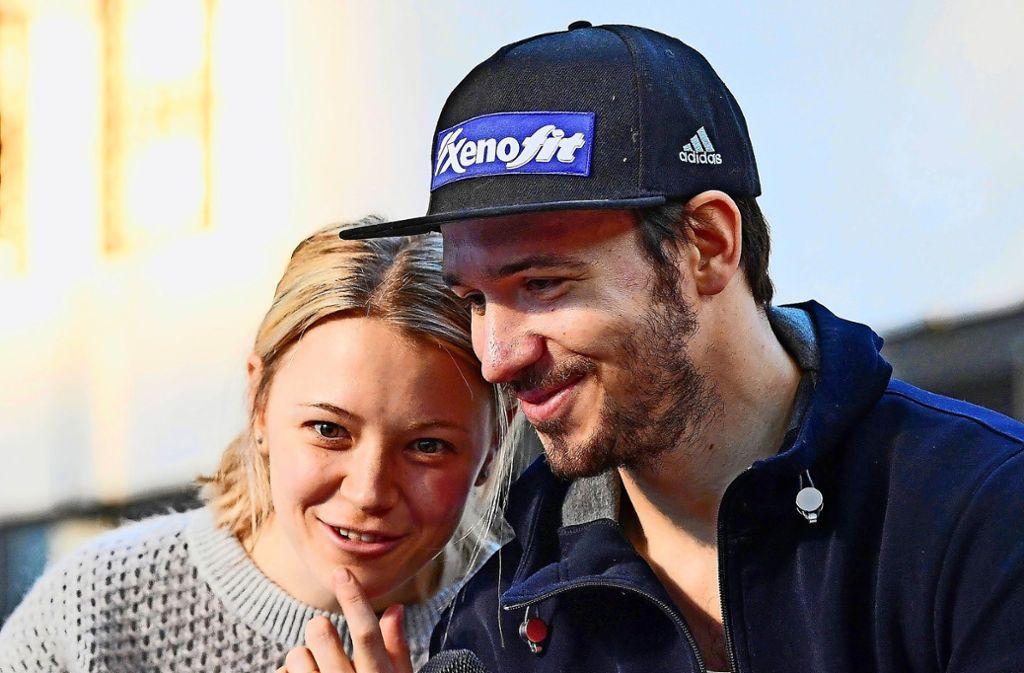 Die ehemaligen Wintersportler Miriam und Felix Neureuther sind zum zweitem Mal Eltern geworden. Foto: dpa/Tobias Hase