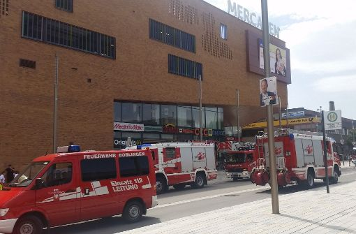 Feueralarm im Mercaden-Einkaufszentrum