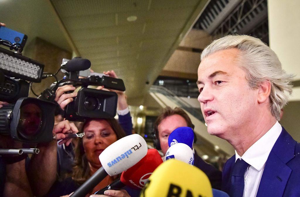 Der Rechtspopulist Geert Wilders hat bei der Parlamentswahl in den Niederlanden nicht genug Wähler an sich binden können. Foto: ANP