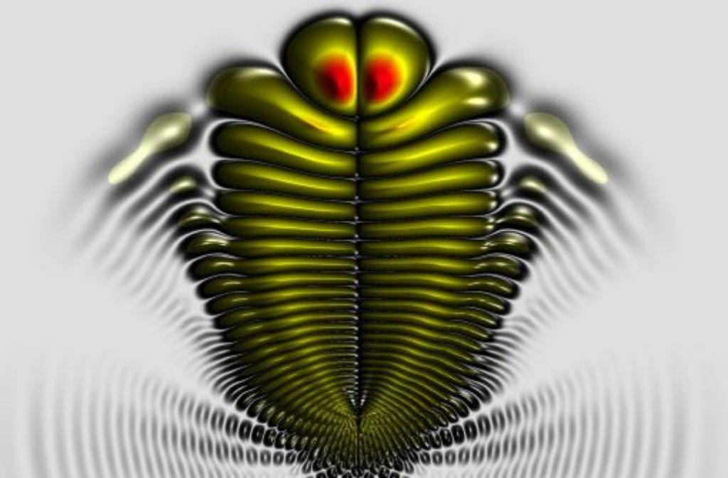 So kompliziert kann Physik auch sein: In Farbe ist die Aufenthaltswahrscheinlichkeit eines Elektrons dargestellt, das zwei (hier nicht gezeigte) Rubidiumatome verbindet: das eine Atom liegt zwischen den roten Punkten, das andere in der Mitte der Kreise. Foto: Universität Stuttgart