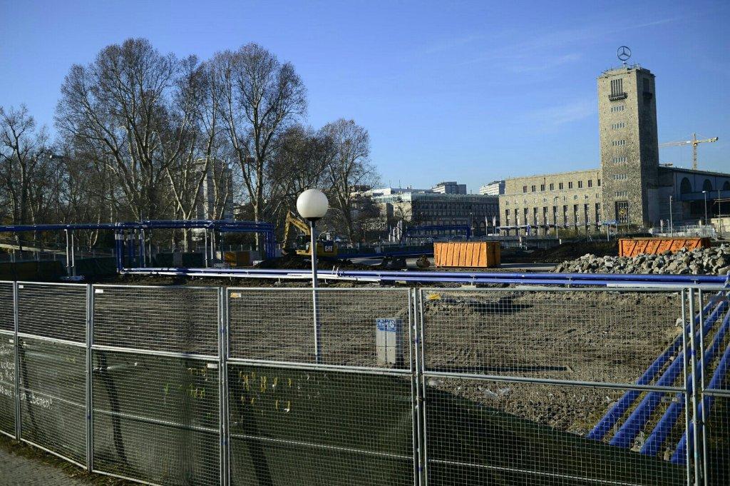 Die Stuttgart-21-Großbaustelle am Stuttgarter Hauptbahnhof. Foto: www.7aktuell.de | Florian Gerlach