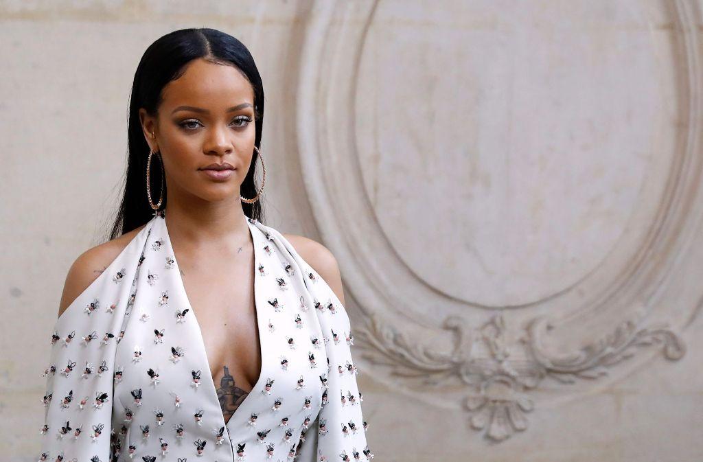"""Sängerin Rihanna wird von der Universität Havard als """"Humanitarian of the Year"""" ausgezeichnet. Foto: AFP"""