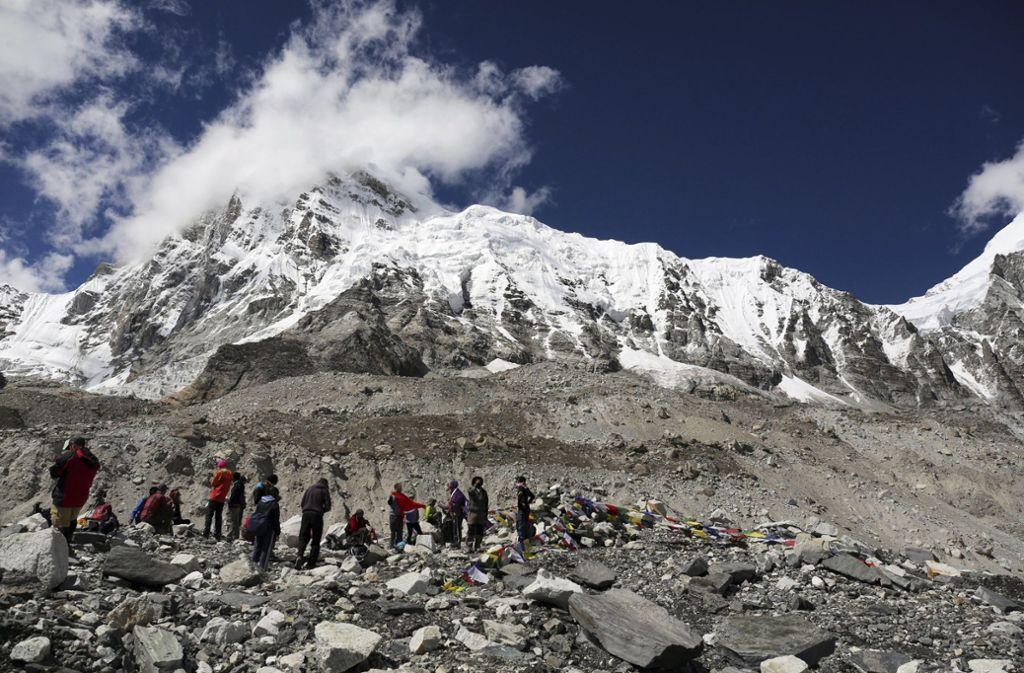 Innerhalb von zwei Tagen sind vier Menschen am Mount Everest gestorben. Foto: AP