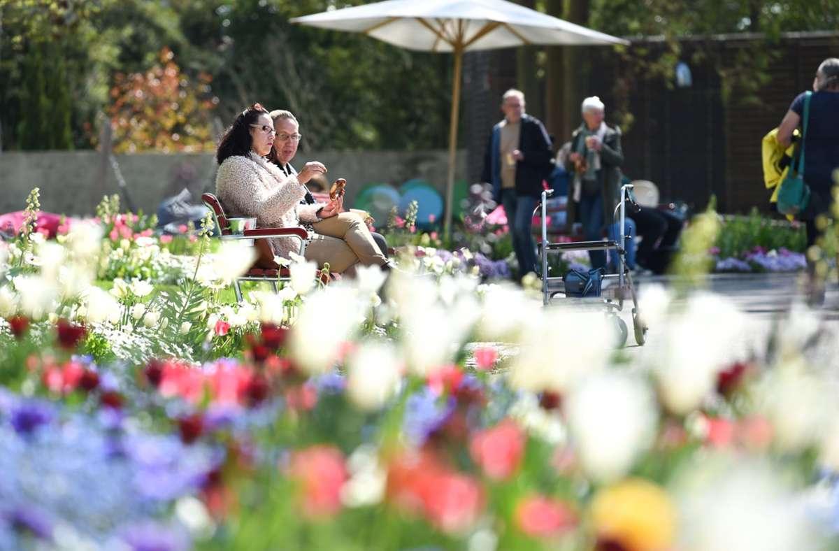 Die Gartenausstellung setzt auf ein umfassendes Schutz- und Hygienekonzept. Foto: dpa/Felix Kästle