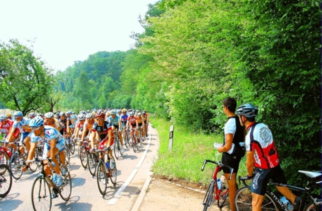 Schon zur Rad-Weltmeisterschaft 2007 war die Feuerbacher-Tal-Straße einige Stunden lang für den Autoverkehr gesperrt. Foto: Archiv Hans-Jürgen Warzel