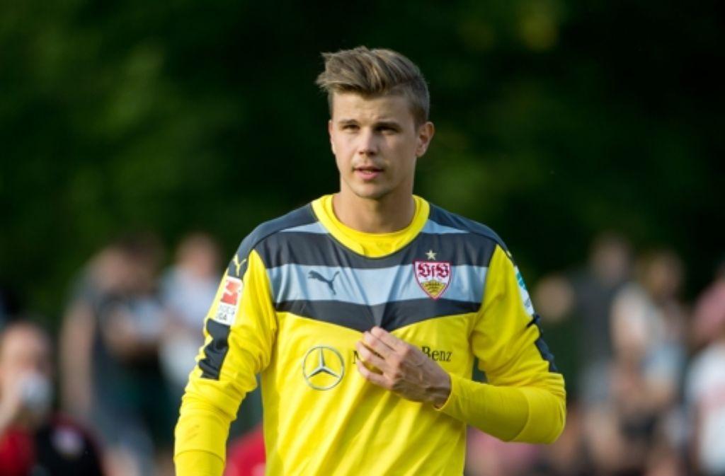 Mitch Langerak beim Trainingsauftakt des VfB Stuttgart im Juni 2015 Foto: dpa