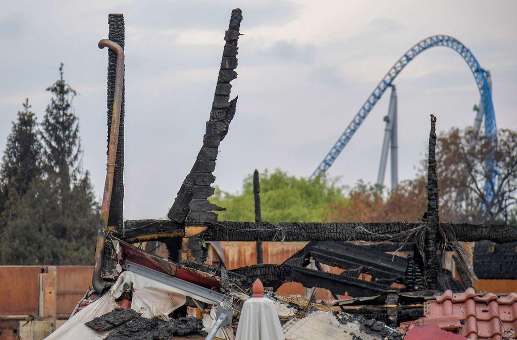 Der Brand war am Samstagabend ausgebrochen und hatte Teile der Themenbereiche Holland und Skandinavien zerstört. Foto: dpa
