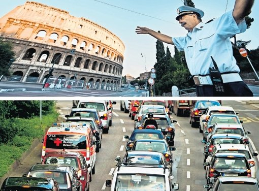 In Stuttgart bald Fahrverbot wie in Rom?