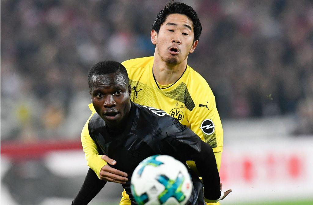 Schoss das erste Tor: Chadrac Akolo vom VfB Stuttgart. Foto: AFP