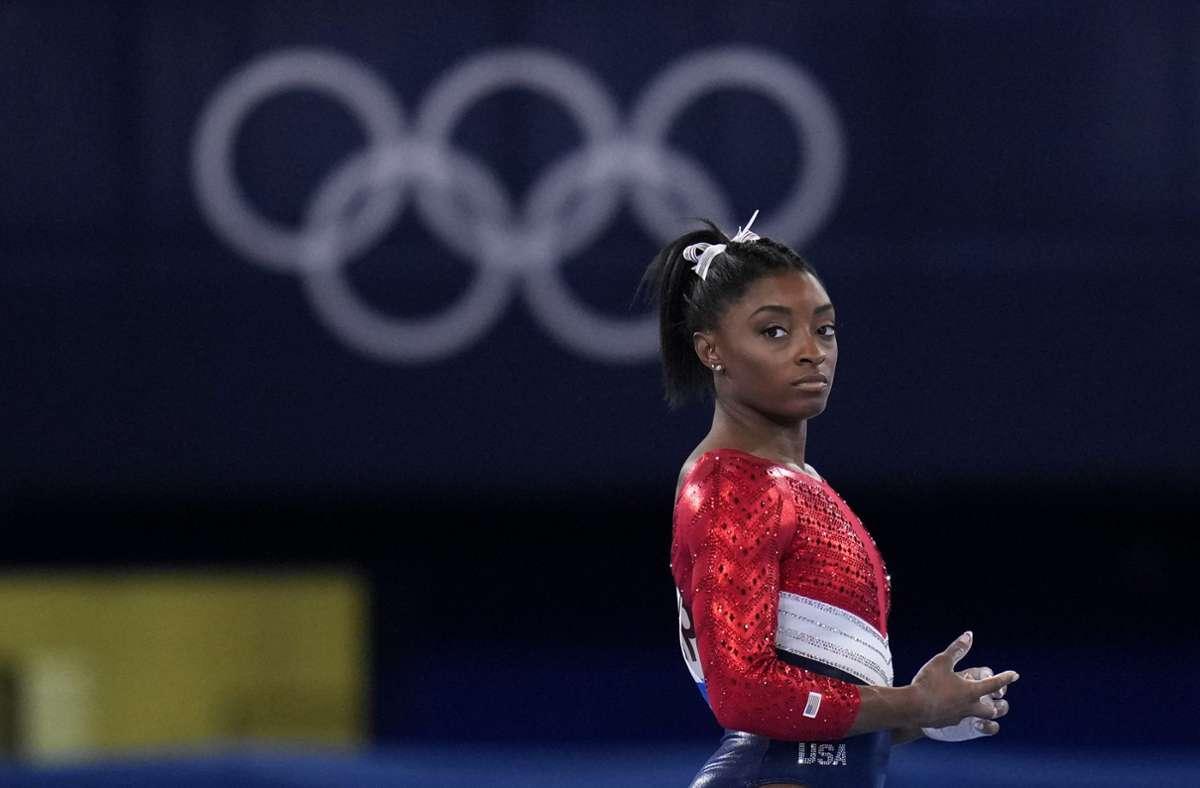 US-Superstar Simone Biles erhielt viel Zuspruch aus den USA. Foto: dpa/Gregory Bull