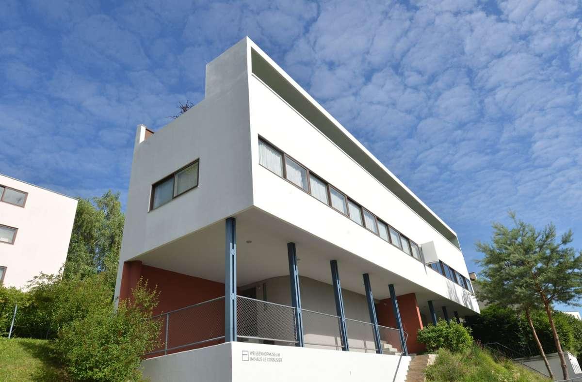 Aushängeschild der Weißenhofsiedlung: das Le-Corbusier-Doppelhaus, in dem das Weißenhofmuseum seinen Sitz hat Foto: dpa/Franziska Kraufmann